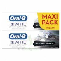 Oral B 3d White Whitening Therapy Dentifrice Charbon Nettoyage Intense 2t/75ml à LE LAVANDOU