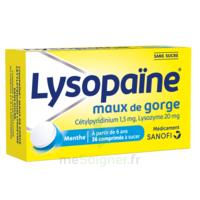LysopaÏne Comprimés à Sucer Maux De Gorge Sans Sucre 2t/18 à LE LAVANDOU