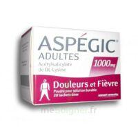 Aspegic Adultes 1000 Mg, Poudre Pour Solution Buvable En Sachet-dose 20 à LE LAVANDOU