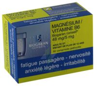 Magnesium/vitamine B6 Biogaran Conseil 48 Mg/5 Mg, Comprimé Pelliculé à LE LAVANDOU