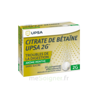 Citrate De Bétaïne Upsa 2 G Comprimés Effervescents Sans Sucre Menthe édulcoré à La Saccharine Sodique T/20 à LE LAVANDOU