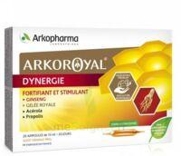 Arkoroyal Dynergie Ginseng Gelée Royale Propolis Solution Buvable 20 Ampoules/10ml à LE LAVANDOU