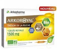 Arkoroyal Gelée Royale Bio Sans Sucre 1500mg Solution Buvable 20 Ampoules/10ml à LE LAVANDOU