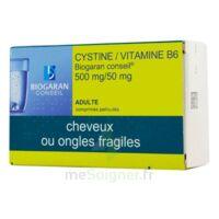 Cystine/vitamine B6 Biogaran Conseil 500 Mg/50 Mg Cpr Pell Plq/120 à LE LAVANDOU