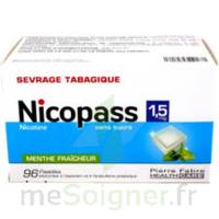 Nicopass 1,5 Mg Pastille Sans Sucre Menthe Fraîcheur Plq/96 à LE LAVANDOU