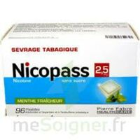 Nicopass 2,5 Mg Pastille Menthe Fraîcheur Sans Sucre Plq/96 à LE LAVANDOU