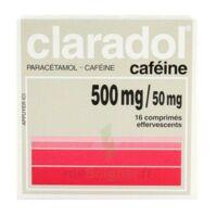 Claradol Cafeine 500 Mg/50 Mg, Comprimé Effervescent à LE LAVANDOU