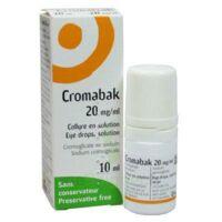 Cromabak 20 Mg/ml, Collyre En Solution à LE LAVANDOU