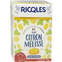 Ricqles Sucres Cuits Bonbon Citron Mélisse Sans Sucre B/40g à LE LAVANDOU