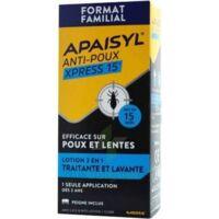 Apaisyl Anti-poux Xpress 15' Lotion Antipoux Et Lente 100ml+peigne à LE LAVANDOU