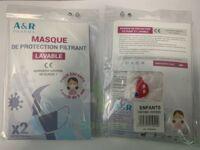 Masque De Protection Filtrant Lavable Voitures Enfant à Partir De 6 Ans B/2 à LE LAVANDOU